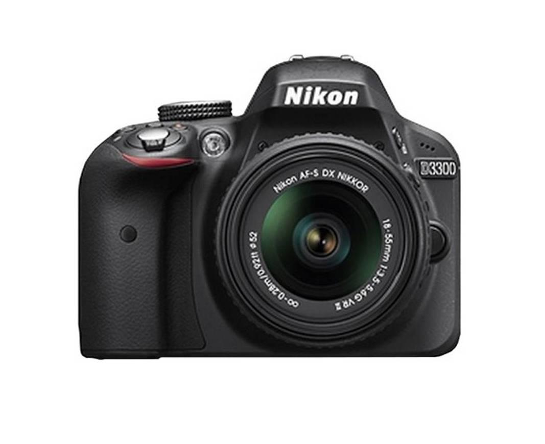 Nikon D3300 (with AF-S 18-55 mm VR Kit Lens) 24.2 MP DSLR Camera (Black) + FREE Nikon DSLR Bag + 8GB Memory Card with 2 years Nikon India warranty
