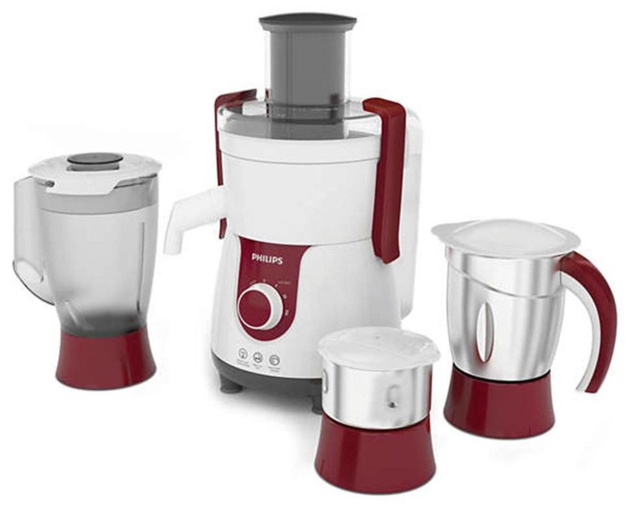 Philips HL7715/00 700 W Juicer Mixer Grinder (White & Red/3 Jar)