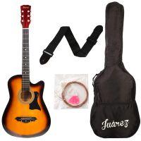 JUAREZ JRZ38C Right Handed Acoustic Guitar (Sunburst, 6 Strings)- Amazon
