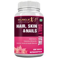 MuscleXP Biotin Hair Skin and Nails Complete Multivitamin with Amino Acids - 60 Tablets- Amazon
