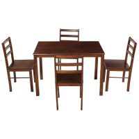 [Rs. 600 Back] Woodness Cyprus 4 Seater Dining Table Set (Matte Finish, Wenge)- Amazon
