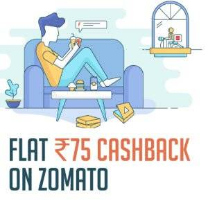Zomato Online Food Order upto 50% off + 20% off + Rs. 75 Freecharge Cashback