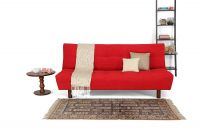 [Rs. 600 Back] [Specific Pincodes] Forzza Clara Three Seater Sofa Cum Bed (Red)- Amazon