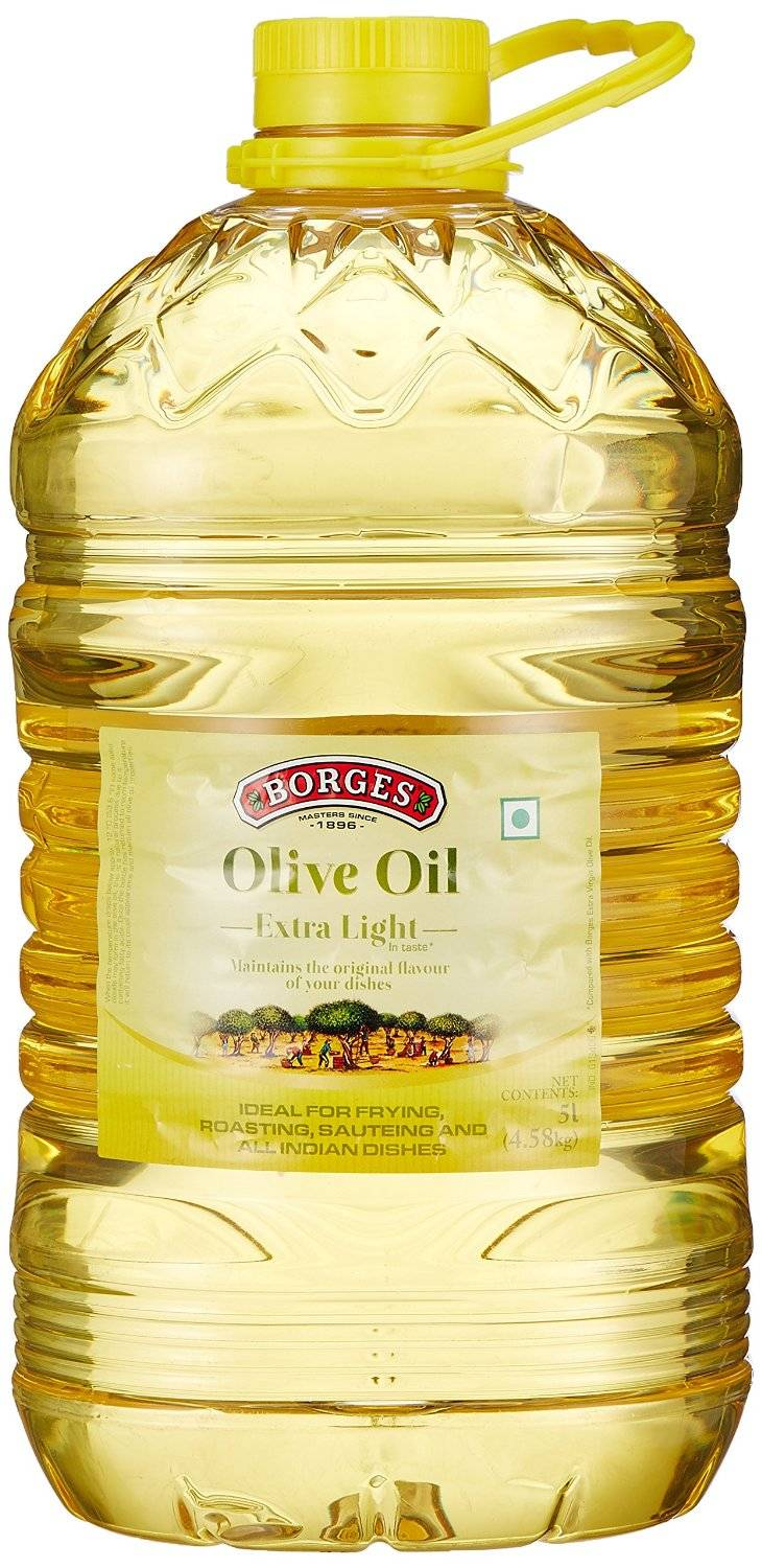 Borges Olive Oil Extra Light Flavours of Olives Cholestrol Free, 5L