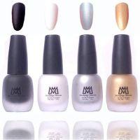 Makeup Mania Premium Nail Polish Velvet Matte Nail Paint Combo (Black, White, Silver, Golden, Pack of 4)- Amazon