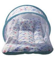 KiddosCare Toddler Mattress with Mosquito Net For Baby (Blue)- Amazon