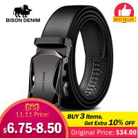 BISON DENIM Men's Belt Leather Belts- Aliexpress