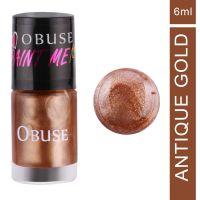 OBUSE Paint Me Premium Nail Polish, Antique Gold, 6 ml- Amazon