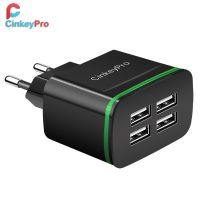 CinkeyPro USB Charger for iPhone Samsung Android 5V 4A 4-Ports Mobile Phone- Amazon