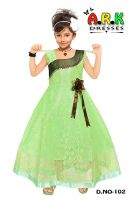 Ark Cute Baby Fashion Girl's Maxi Full Length Frock Dresses Bright Party Casual Wear Frock Dress- Amazon