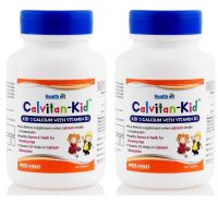Healthvit Calvitan-Kid Kid's Calcium with Vitamin d3 60 Tablets pack of 2- Amazon