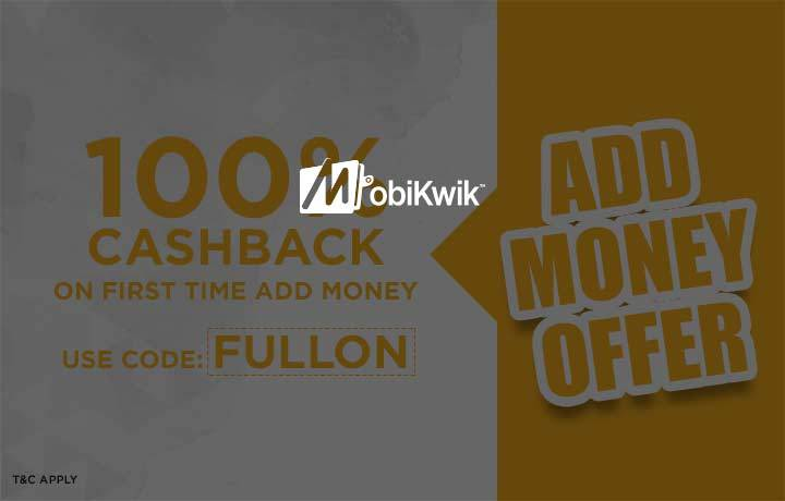 Get 100% Cashback on adding money in Mobikwik Wallet (new user)