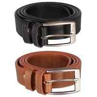 Hob London Fashion With Device Black & Brown Belt For Men's (HLF-BLT-BK-BR-01)- Amazon