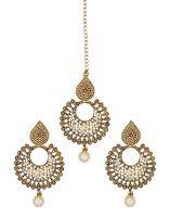 Zaveri Pearls Jewellery Set For Women (Golden) (ZPFK6088)- Amazon
