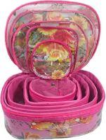 Addyz Set of 5 Pcs Toiletry Shaving Makeup Bindi Bangle Socks Hanky Storage Jewellery Organizer Vanity Box(Pink)- Flipkart