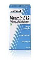 HealthAid Mega Strength Vitamin B12 1000mg - 60 Tablets to 1000µg- Amazon