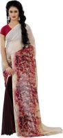 Wama Fashion Printed Daily Wear Faux Georgette Saree(Pink)- Flipkart