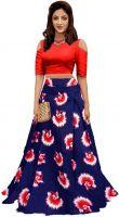 Bandidhari Fashion Banglori Satin Semi-stitched Lehenga Choli- Amazon