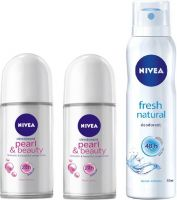 Nivea Pearl & Beauty Roll on 50 ml & F...