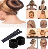 DALUCI Hair Styling Donut Bun Maker Former Foam French Twist Magic Tool For Women & Girls (Color:Black)- Amazon