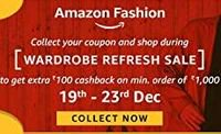 Collect your coupon and shop during WRS to get extra Rs.100 cashback on fashi...
