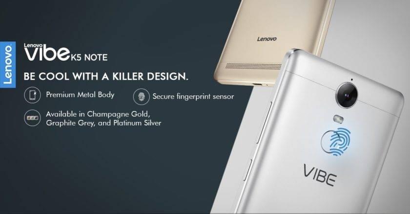 Lenovo's New Upgrade Vibe K5 Note, goes on sale tonight on Flipkart