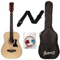 JUAREZ JRZ38C Right Handed Acoustic Guitar (Natural, 6 Strings)- Amazon