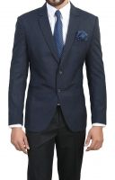 ManQ Men's Viscose Slim Fit Formal Blazer- Amazon