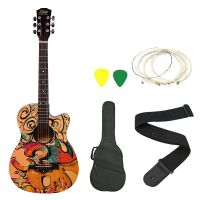 Zabel Zbtr09 Acoustic Guitar With Truss Rod Combo With Bag, Strap, One Pack Strings And 3 Picks- Amazon