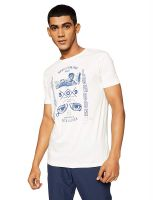 (Size M) Pepe Jeans Beat London Men's Printed Slim Fit T-Shirt- Amazon