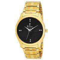 Espire Watches Analogue Black Dial Golden Men's Wrist Watch {EW_065}- Amazon