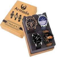 Armado AR-81019361 Combo of 4 Multicolours Watches- Amazon