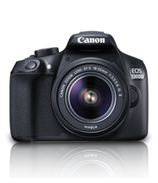 Canon EOS 1300D (EF S18-55 IS II) 18 MP DSLR Camera (Black) with CMOS Censor