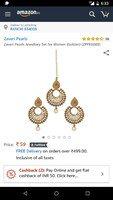 loot Zaveri Pearls Jewellery Set for Women (Golden) (ZPFK6088) https://www.am...