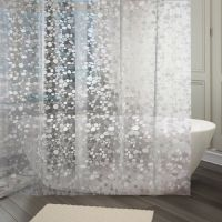 Kuber Industries PVC Shower Curtain with 8 Rings - 7ft, White- Amazon