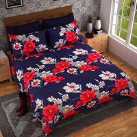 [LD] Braids 110 TC Microfibre Double Bedsheet and 2 Pillow Covers- Amazon