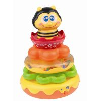 HAP-P-KID Honey Bee Stacking Rings Enhances Thinking and Problem Solving Includes 4 Rattling Stacking Rings- Amazon