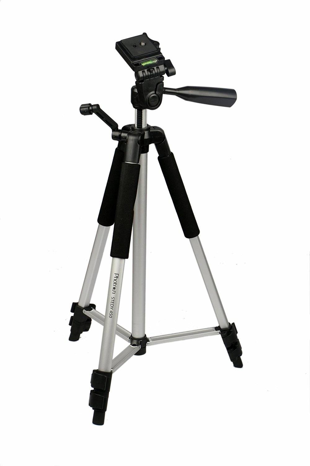 Photron Tripod Stedy 450 with Pan Head 4.5 Feet + Extra Quick Release Plate + Foam Grip and Carry Case