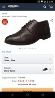 loot Arrow Men's Gabb Dark Bown Formal Shoes-10 UK/India (44 EU)(2521813623) ...