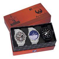 Armado Analogue Grey Dial Men's Watches- Amazon
