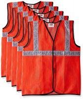 Safari Pro 2' Inch Reflective Safety Jacket, Orange, Mesh Type, Set of 5- Amazon