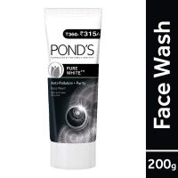 [LD] Pond's Pure White Anti Pollution With Activated Charcoal Facewash, 200g- Amazon