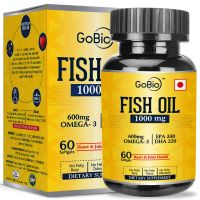[Live @ 10AM] GoBio Omega-3 Fish Oil 1000mg Double Strength 330mg EPA 220mg DHA- Amazon