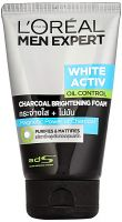 L'Oreal Paris Men Expert White Activ Oil Control Charcoal Foam, 100ml- Amazon