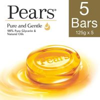 Pears Pure And Gentle Bathing Bar, 125g (Pack Of 5)- Amazon