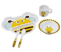 Luvlap Bumble Bee Melamine Cutlery, Multicolor- Amazon