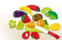 Sunshine Realistic Sliceable 12 Pcs Fruits and Vegetables Cutting Play Toy Set- Amazon