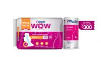 VWash Wow UltraThin Sanitary Napkins -...