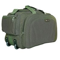 N Choice Polyester 60 L Green Travel Duffel Luggage Bag with 2 Wheels- Amazon