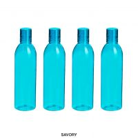 Steelo Savory Plastic Water Bottle, 1 Litre, Set of 4, Turkish Blue- Amazon